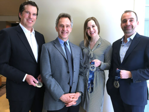 Beard Winter LLP Corporate Law and Litigation Lawyers (L-R), David Wilson, Robert Harason, Monika Drobnicki and Brandon Tigchelaar.